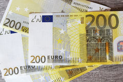 Euro banknotes. Euro notes forming texture background Stock Images