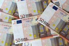 Euro banknotes. Euro notes forming texture background Stock Photography