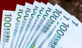 Euro. Banknotes of one hundred Stock Photography
