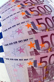 500 euro banknotes, optical effect Stock Images