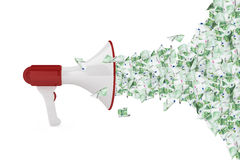 Euro Banknotes out of Megaphone Stock Photos