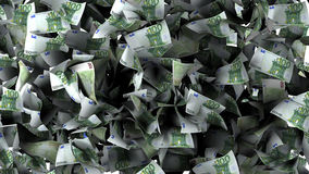 Euro banknotes in a pile Royalty Free Stock Photos