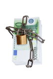 Euro banknotes protected Royalty Free Stock Photo