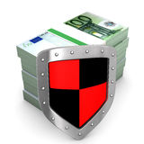 Shield Euro Money Stock Photos