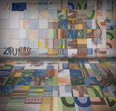 Euro banknotes puzzle Royalty Free Stock Image
