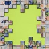 Euro banknotes puzzle royalty free stock photo