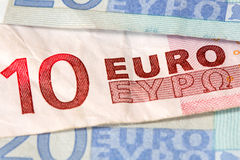Euro banknotes with selective focus Stock Images