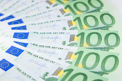 Euro banknotes  spread over the floor - European currency Royalty Free Stock Photos