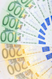 Euro banknotes  spread over the floor - European currency Stock Photos