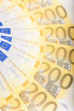 Euro banknotes  spread over the floor - European currency Stock Image