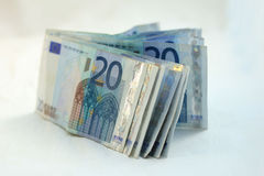 20 euro banknotes Stock Image