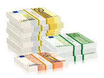 Euro banknotes stacks Royalty Free Stock Photo