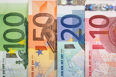 Euro banknotes with various denomination Royalty Free Stock Image