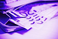 Business, finance, investment, saving and cash concept - close u Royalty Free Stock Photo