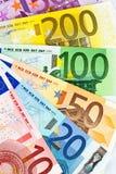 euro banknotu fan zdjęcia stock