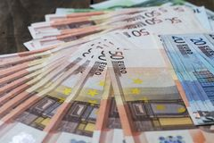 Euro banknotu tło Obrazy Stock