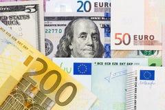 Euro banknotu tło Zdjęcia Stock