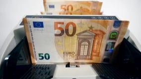 Euro banknoty one przetwarzają odliczającym przyrządem zbiory wideo