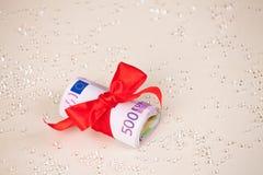 Euro banknoty z faborkiem zdjęcie royalty free