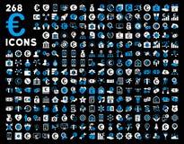 Euro bankowości usługa i biznesu narzędzi ikony Zdjęcie Stock