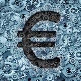 Euro Bankwereld royalty-vrije illustratie