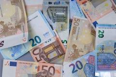 Euro-banlnotes Lizenzfreie Stockfotos