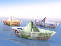 Euro- barcos Imagens de Stock