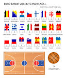 Euro Basket 2013 Kits and Flags Stock Images