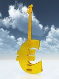 Euro bass guitar Stock Photography