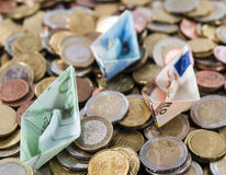 Euro bateaux Photographie stock libre de droits