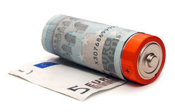 Euro battery Royalty Free Stock Photos