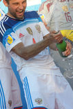 Euro Beach Soccer League Moscow 2014 Stock Images