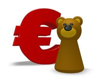 Euro and bear Stock Image