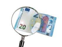 20 euro bedriegt ingrandimento Royalty-vrije Stock Afbeelding