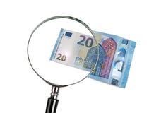 20 euro bedriegt rimpicciolimento Stock Foto's