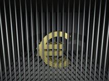 Euro Behind Bars Royalty Free Stock Photography