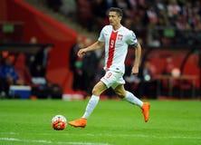 EURO 2016 Bepalende woorden Polen versus Gibraltar Stock Afbeeldingen