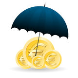 Euro Bescherming Stock Foto