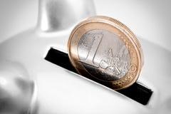 Euro besparingenconcept Stock Foto's