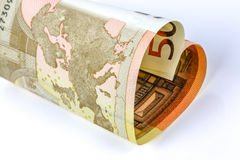 50 euro bill in the form of a heart Royalty Free Stock Images
