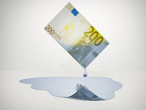 200 Euro bill freshwater. 200 Euro bill drips freshwater vector illustration