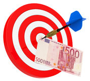 The euro bill target Royalty Free Stock Photos