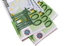 Euro 100 billetes de banco Imagenes de archivo