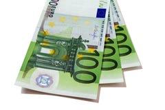 Euro 100 billetes de banco Imagen de archivo libre de regalías
