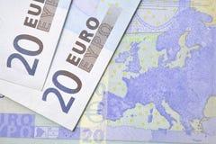 Euro billets de banque Photographie stock libre de droits