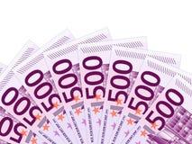 500 euro billets de banque Photos stock