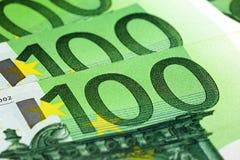 100 euro billets de banque Photos stock