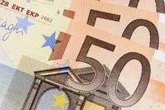 50 euro billets de banque Image libre de droits