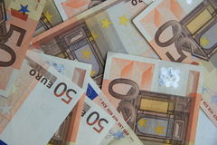 50 euro billets de banque Photographie stock libre de droits
