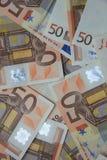 50 euro billets de banque Photographie stock